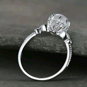 Lab Moonstone Ring